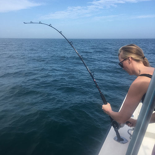 Amberjack Fight on Gulf of Mexico Deep Sea Charter