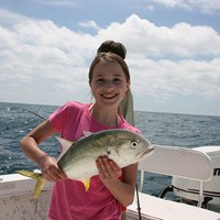 Small Amberjack Caught on Ft Myers Deep Sea Fishing Charter
