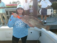 Large grouper catch in Fort Myers with local fishing charter