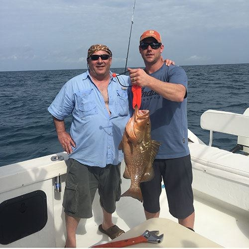 Red Grouper Reeled in on Cape Coral Deep Sea Charter