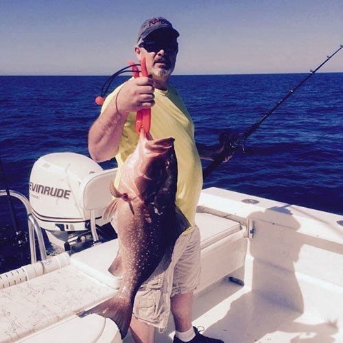Keeper Red Grouper Caught on Cape Coral Fishing Charter