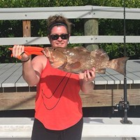 Fat Red Grouper Caught on Cape Coral Deep Sea Charter