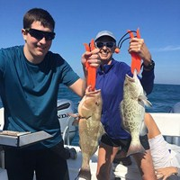 Red and Gag Grouper Caught on Florida Deep Sea Fishing Charter