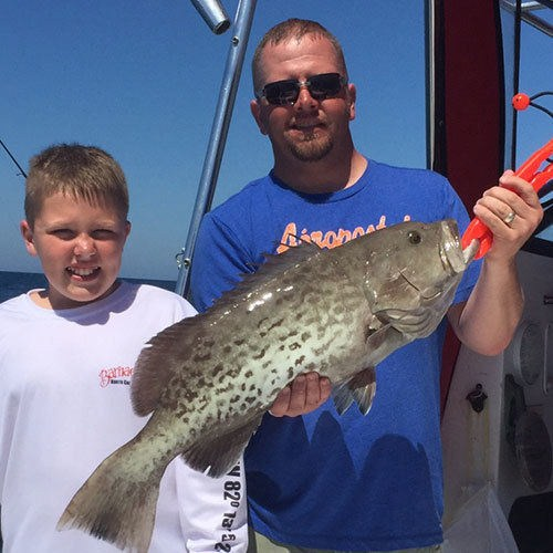 Keeper Gag Grouper Caught on Cape Coral Deep Sea Fishing Charter
