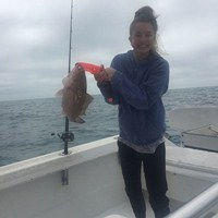 Small Red Grouper Caught on Ft Myers Deep Sea Charter