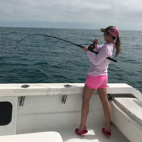 Fighting Against a Mackerel on a Cape Coral Fishing Charter