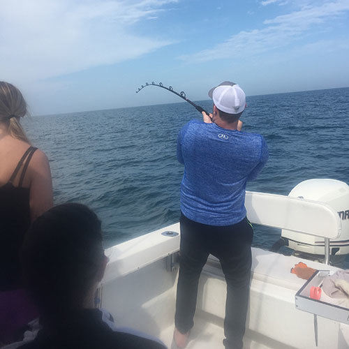 Fight Against a Mackerel Run on Ft Myers Fishing Charter