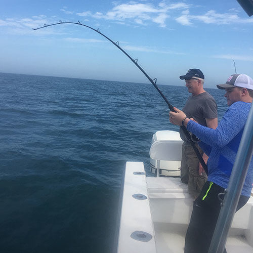 Fight Against a Mackerel Run on Cape Coral Fishing Charter