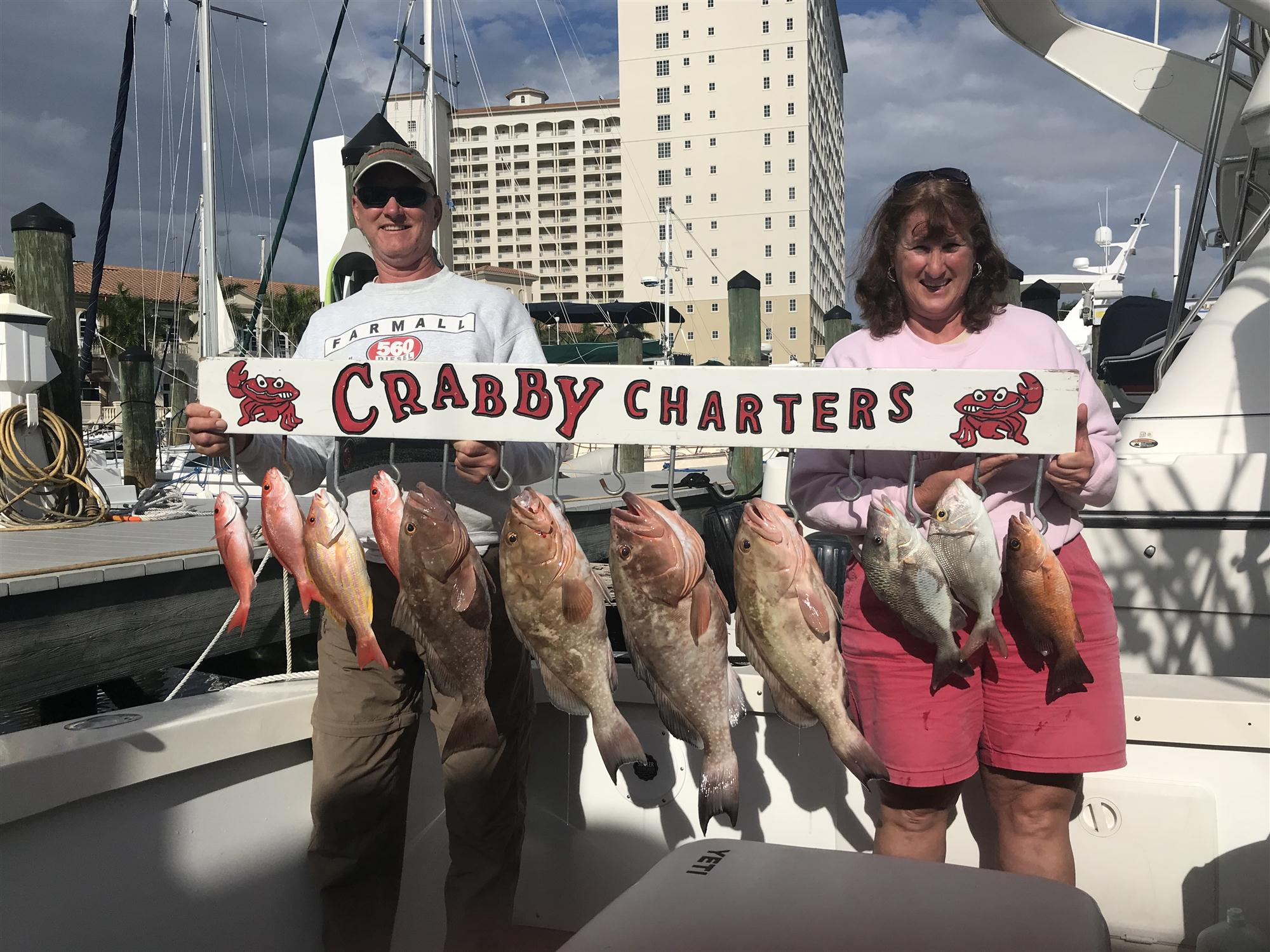 Fish caught on Crabby Charters' boat