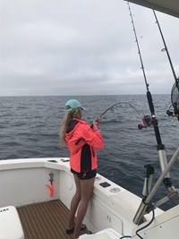 Girl Fighting with Monster Fish near Fort Myers