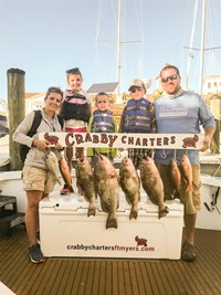Family fishing charter in Florida