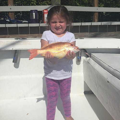 Girl Caught her First Snapper