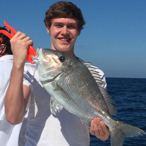 Perfect Porgy Caught Onboard Crabby Charter