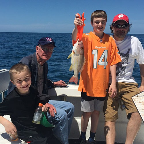 Snapper Caught on First Deep Sea Fishing Charter