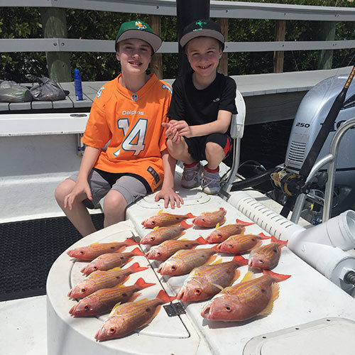 Great Snapper Haul After Ft Myers Deep Sea Fishing Charter